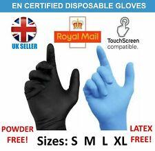 New Nitrile Rubber Gloves Powder/Latex Free Black Blue Gloves PPE M L XL