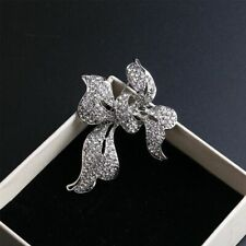 1PCS Rhinestone Bow Tie Brooch Pin Wedding Bridal Brooch Pin Garment Accessories