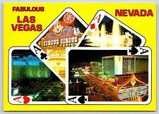 Fabulous Las Vegas, NEVADA Golden Circus Circus Dunes Continental Postcard New