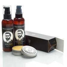 Percy Nobleman's Essential Bundle - Beard Oil Beard Wash Moustache Wax