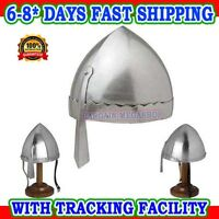 Norman Nasal Helmet, Re-enactment, larp, role-play, fancy-dress, with Chin Strap