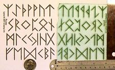 UM Runes Alphabet set of 26 rubber stamps by Amazing