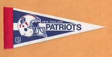 1980s NEW ENGLAND PATRIOTS OLD MINUTEMAN LOGO 9 inch MINI PENNANT UNSOLD STOCK