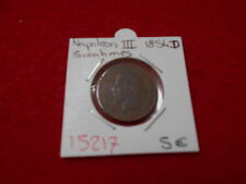 5 CENTIMES NAPOLEON III - 1854 D - OLD FRENCH COIN - REF15217