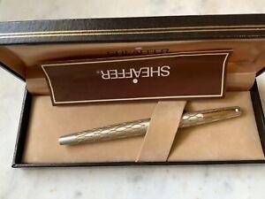 Lady Sheaffer 642 Brushed Silver Basketweave Fountain Pen Fine