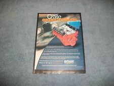 "1999 Mopar Parts Vintage Ad for Crate Engines ""Crate Expectations"""