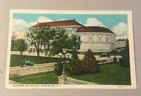 CORCORAN ART GALLERY Washington DC early unused divided-back postcard - old cars