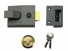 Yale Locks P88 Standard Nightlatch DMG Brass Cylinder 60 mm Backset Visi Pack