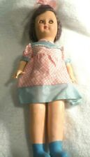 """Vintage Italian Bisque and Rubber Sleepy Eyed 13 1/2"""" Doll"""