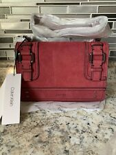 Calvin Klein Leather Brynn Merot Purse New With Tags $248