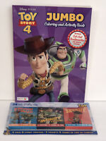 2 Disney Toy Story 4 Gift Set Jumbo Coloring & Activity Book & Crayon Packs