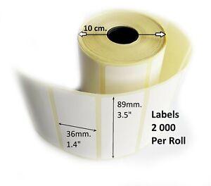 "Self Adhesive Thermal Transfer Sticky Address Printer Labels 89x36mm3,5""x1,4"""