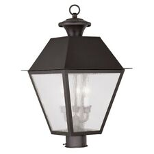 Livex Lighting Mansfield Outdoor Post Head in Bronze - 2169-07