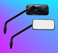 Paar Spiegel schwarz Motorradspiegel Lenkerspiegel Rückspiegel M10x1.25 NEU