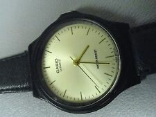 """Casio classic water resistant ladies watch 7 1/4"""" leather band good condition A+"""