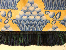 Hazel Grove Yellow Blue Drapery Upholstery Vintage Fabric 1996 By The Yard