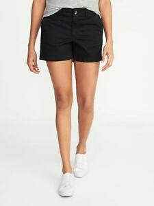 """NWT Old Navy Mid-Rise Twill Everyday Shorts for Women -- 5"""" inseam  (4)"""