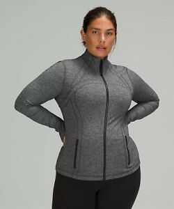 NWT authentic lululemon define jacket in Heathered Black size 8. in wrapper!