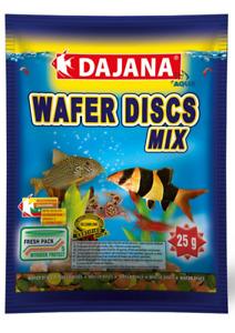 Wafer Discs Mix -bottom feeders fish & crustaceans fresh or salt 80ml sachet 25g