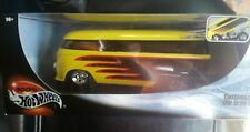 NEW MATTEL 100% HOT WHEELS CUSTOMIZED VW DRAG BUS YELLOW BLACK RED 1:18 SCALE