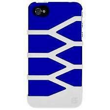 NEW BLUE WHITE DUO PROTECTOR HARD SHELL CASE COVER FOR iPHONE 4S 4 4G CDMA