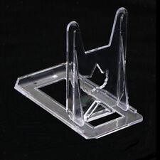 10 Pequeños Blanco Acrílico Plástico Acrílico Placa de libro al por menor Display Stand soporte