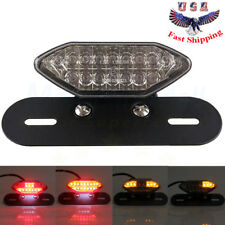 Smoke 16LED Motorcycle ATV Turn Signal Brake License Plate Integrated Tail Light