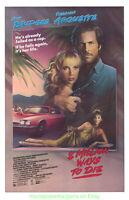 8 MILLION WAYS TO DIE MOVIE POSTER VG ONLY!! 27x41 Original Rolled JEFF BRIDGES