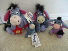 Lot of 4! Walt Disney World Eeyore'S Plush, Bean Bag, Soft Toys! Mailed Priority
