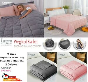 Weighted Blanket Heavy Glass Bead Gravity Sensory Sleep Therapy Anxiety 4/6Kg