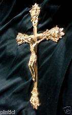 Christliche Kruzifix Kreuz Jesus Christus Wandkreuz 28x15 Holz Altarkreuz Jesu