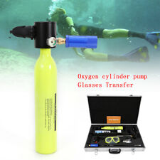 Mini Scuba Tank Pump Cylinder Diving Oxygen Equipment Air Spare Case Us Ship