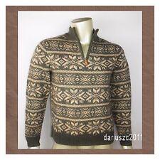$ 185 Vineyard Vines Men's Wool Sweater  Fairisle  Quarter Zip Size Small