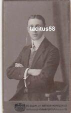 CDV-Foto Max Geissel - Erinnerung an Apollo-Kabaret Bielefeld 1908 Frankfurt