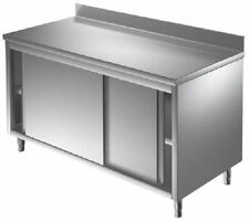 meuble inox portes coulissantes 1800 x 700 x 900 mm( table armoire inox )