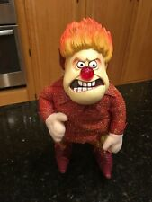 """Heat Miser Plush Doll The Year Without A Santa Claus 12"""" Doll nose lights up"""