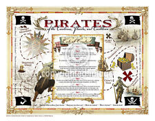 "19.5 x 25"" Pirate's Code Vintage Look Poster Printed on French Parchment Paper"