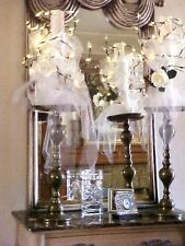 GORGEOUS CANDLE $1200  PAIR WEDDING CENTERPIECES 4FT HUGE LIGHTED BRASS ROSES