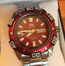 Orient XL 43 mm Red FEM7R002H9 Taucheruhr Herren Automatic Watch Automatik Uhr