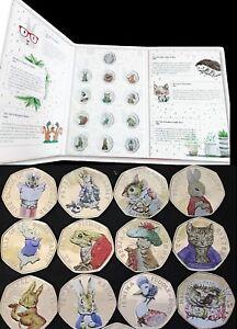 Beatrix Potter 50P Coins 2016/17/18 Full Sets Albums Decals Peter Rabbit Jemima