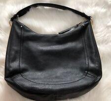 MMS Black Faux Leather Medium Hobo Shoulder Bag
