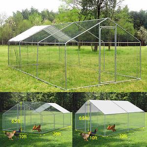 20x10ft Walk in Coop Chicken Run Backyard Hen House Poultry Rabbit Cage Habitat