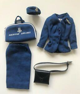 Vintage Barbie AMERICAN AIRLINES STEWARDESS #984 Outfit Missing Blouse 60s Orig