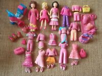 """Polly Pocket Doll Lot """"Colors of the Rainbow"""" Pink Clothes Pet Clothing 6-62"""