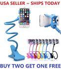 Flexible 360 Clip Mobile Cell Phone Holder Lazy Bed Desk Car Bracket Mount Stand