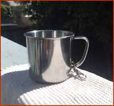 2 Stainless Steel 16 oz Camping Cups + 2 Mag Fire Start + Multi Knife + Ext Fork