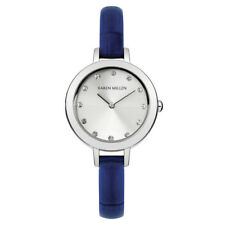 Karen Millen KMA101U Women's Ladies Blue Leather Strap Watch
