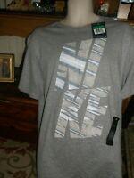 NWT NEW Men's XL GRAY Nike T- shirt S/S REGULAR FIT REFLECTIVE