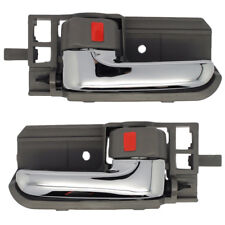 Inside Door Handles Pair - Left and Right / Front or Rear - Chrome and Gray