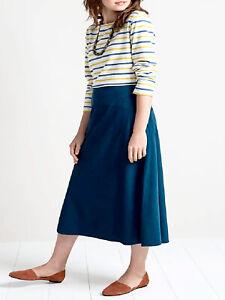 EX SEASALT Royal Blue Vivid Indigo Bolatherick Skirt Sizes 8 or 12 RRP £59.95